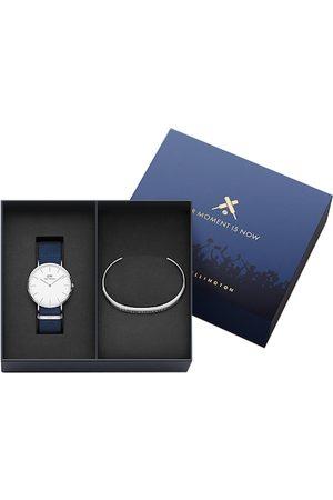 Daniel Wellington Men Classic Bayswater Watch & Classic Bracelet Large Gift Set DW00500425