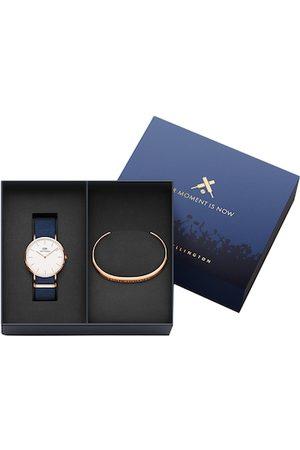 Daniel Wellington Men Classic Bayswater Watch & Classic Bracelet Large Gift Set DW00500424