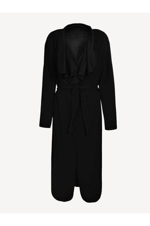 YOINS Lapel Trench Coat with Belt
