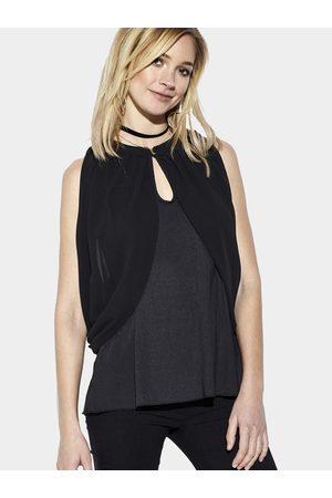 YOINS Chiffon Cold Shoulder Hollow Out Top