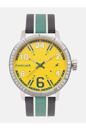 Fastrack Men Yellow Analogue Watch 3178SL02
