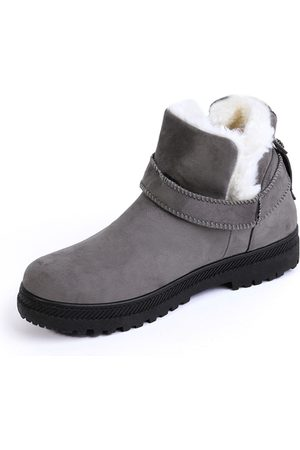 YOINS Belt Decorated Fur-lined Warm Snow Boots