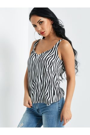 YOINS Zebra Stripe Cami Top