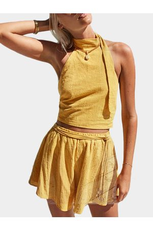 YOINS Sexy Cropped Top & High Waist Skort Co-ord