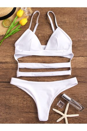 YOINS Spaghetti Cut Out Bikini Sets