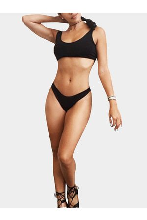 YOINS Balck Simple Bikini Set