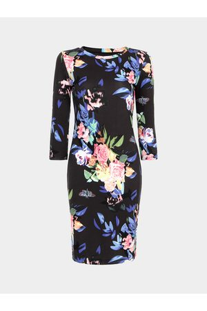 YOINS Pencil Midi Dress In Floral Print