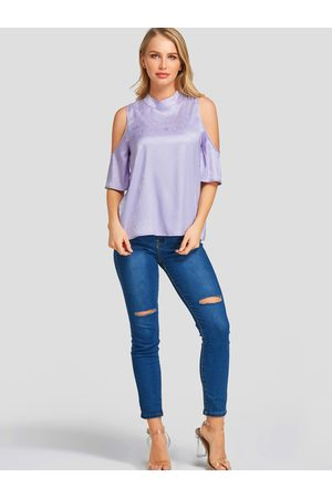YOINS Cold Shoulder Half Sleeves Blouse