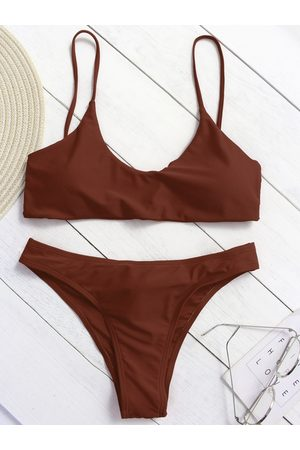 YOINS Criss-cross Back String Bikini Set