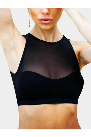 YOINS Active Cut Out Net Yarn Vest in