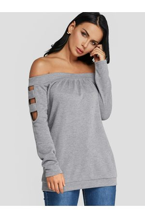 YOINS Cut Out Off The Shoulder Long Sleeves Top