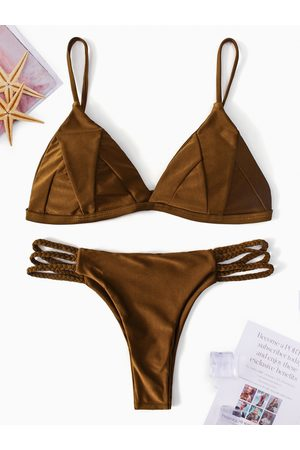 YOINS Basic V-neck String Bikini Set