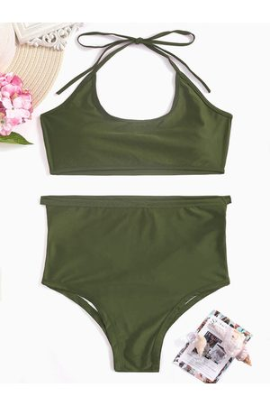 YOINS Cutout Hollow Design Bikini Set in Army