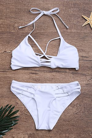 YOINS Strappy Criss-cross Design Bikini Set in