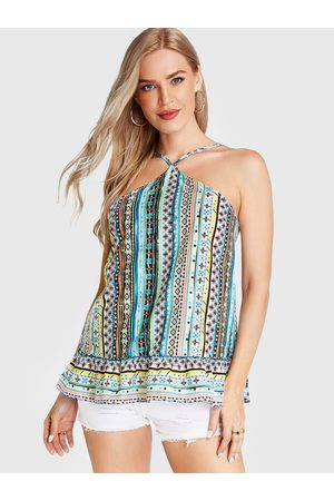 YOINS Adjustable Shoulder Straps Geometrical Cami