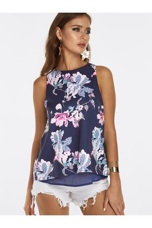 YOINS Floral Print Slit Back With Lining Vest
