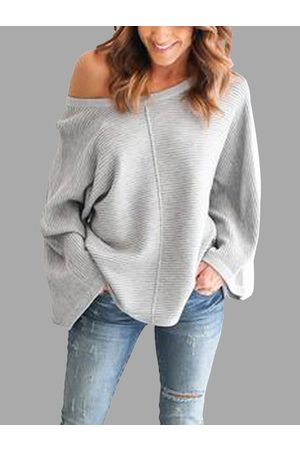 YOINS Casual Knitted Loose Round Neck Top in