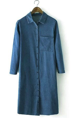 YOINS Denim Shirt Dress