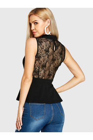 YOINS Backless Design Sleeveless Lace Top