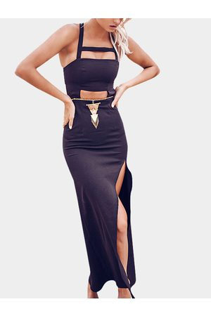 YOINS Sexy Slit Maxi Dress with Cut Out Details