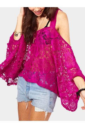 YOINS Rose Hollow Lace Loose Blouse