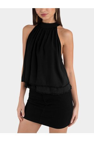 YOINS Cut Out Two Layers Design Top