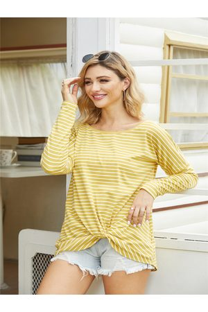 YOINS Twisted Design Stripe Tee