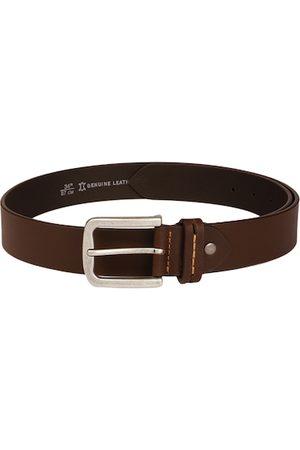 Roadster Men Brown Solid Leather Belt