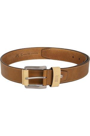 Roadster Men Belts - Men Brown Solid Leather Belt