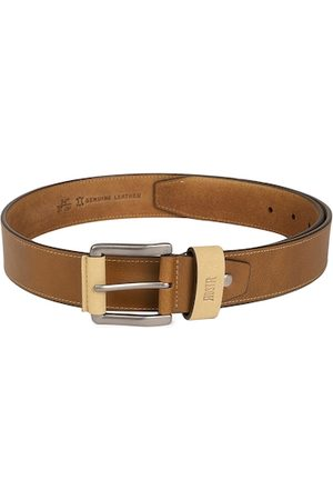 Roadster Men Brown Solid Leather Belt