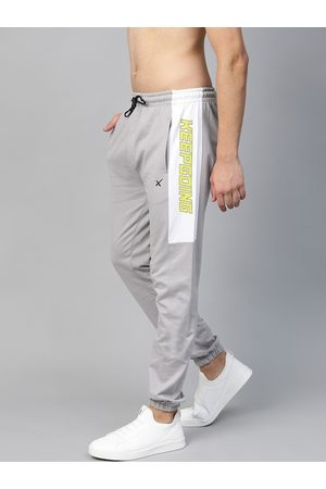HRX Men Grey Solid Lifestyle Joggers