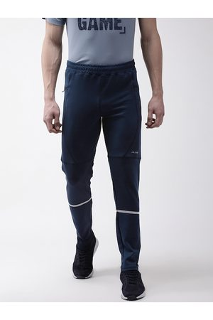 Alcis Men Navy Blue Solid Slim Fit Training Track Pants