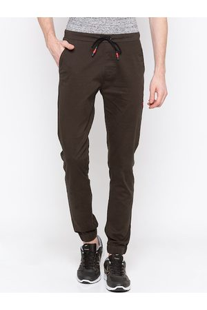 SPYKAR Men Brown Slim Fit Solid Joggers