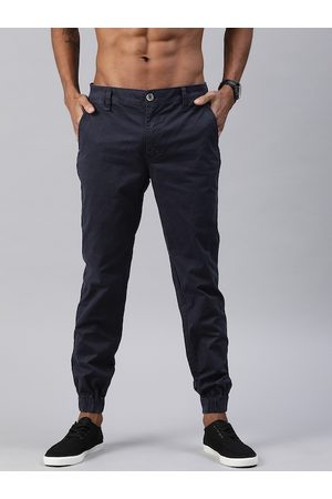 Roadster Men Navy Blue Regular Fit Solid Joggers
