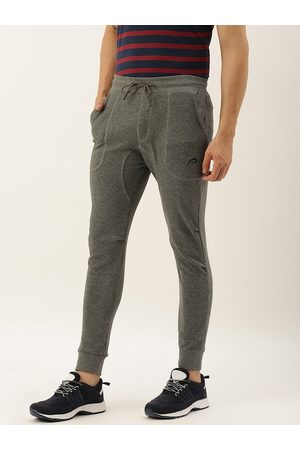 Proline Men Grey Melange Slim Fit Solid Joggers