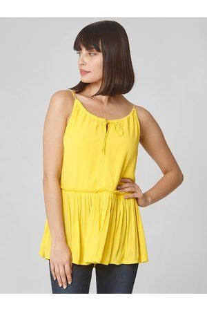 Vero Moda Women Yellow Solid Top