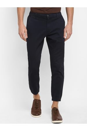 Red Tape Men Navy Blue Tapered Fit Solid Joggers