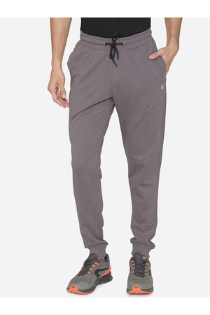 MANQ Men Grey Solid Joggers