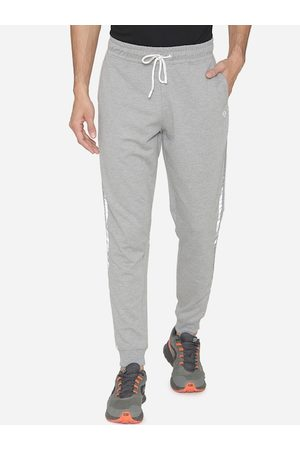 MANQ Men Grey Melange Solid Joggers