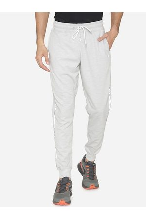 MANQ Men White Solid Joggers