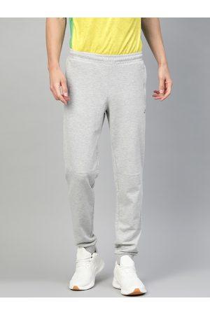 Alcis Men Grey Melange Slim Fit Solid Joggers
