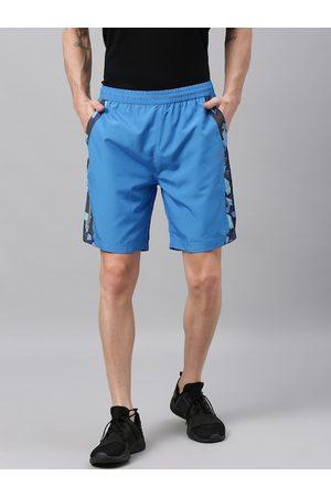 Wildcraft Men Blue Printed Regular Fit Sports Active 14 Shorts