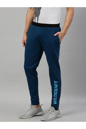 Wildcraft Men Navy Blue Printed Slim Fit Joggers