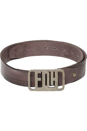 ED HARDY Men Brown Solid Belt