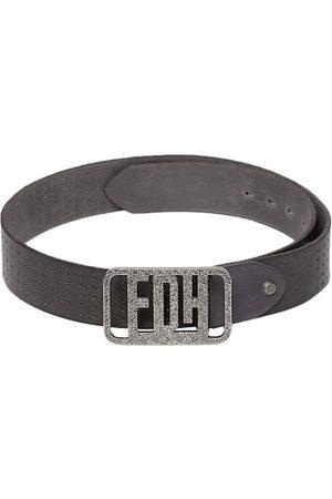 Ed Hardy Men Black Solid Belt