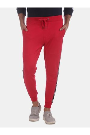 Aeropostale Men Red Solid Straight-Fit Joggers