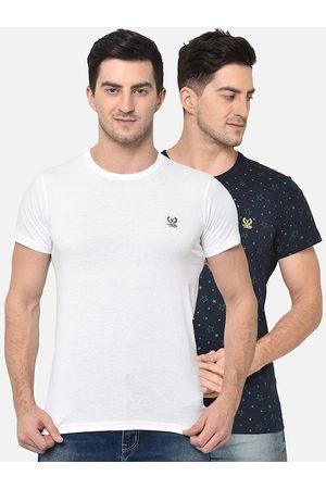 VIMAL JONNEY Men Short Sleeve - Men Pack of 2 Round Neck T-shirts