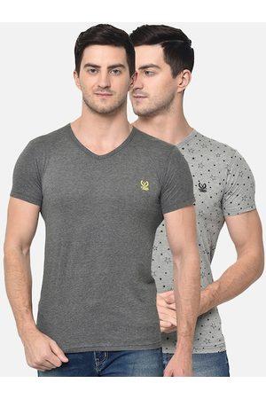 VIMAL JONNEY Men Short Sleeve - Men Pack Of 2 V-Neck T-shirt
