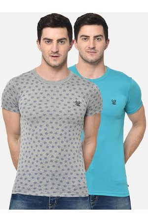 VIMAL JONNEY Men Pack of 2 Round Neck T-shirts
