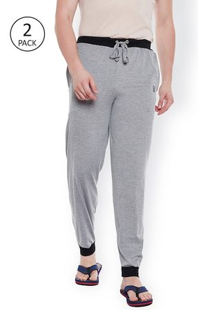 VIMAL Men Pack of 2 Grey Melange Solid Joggers